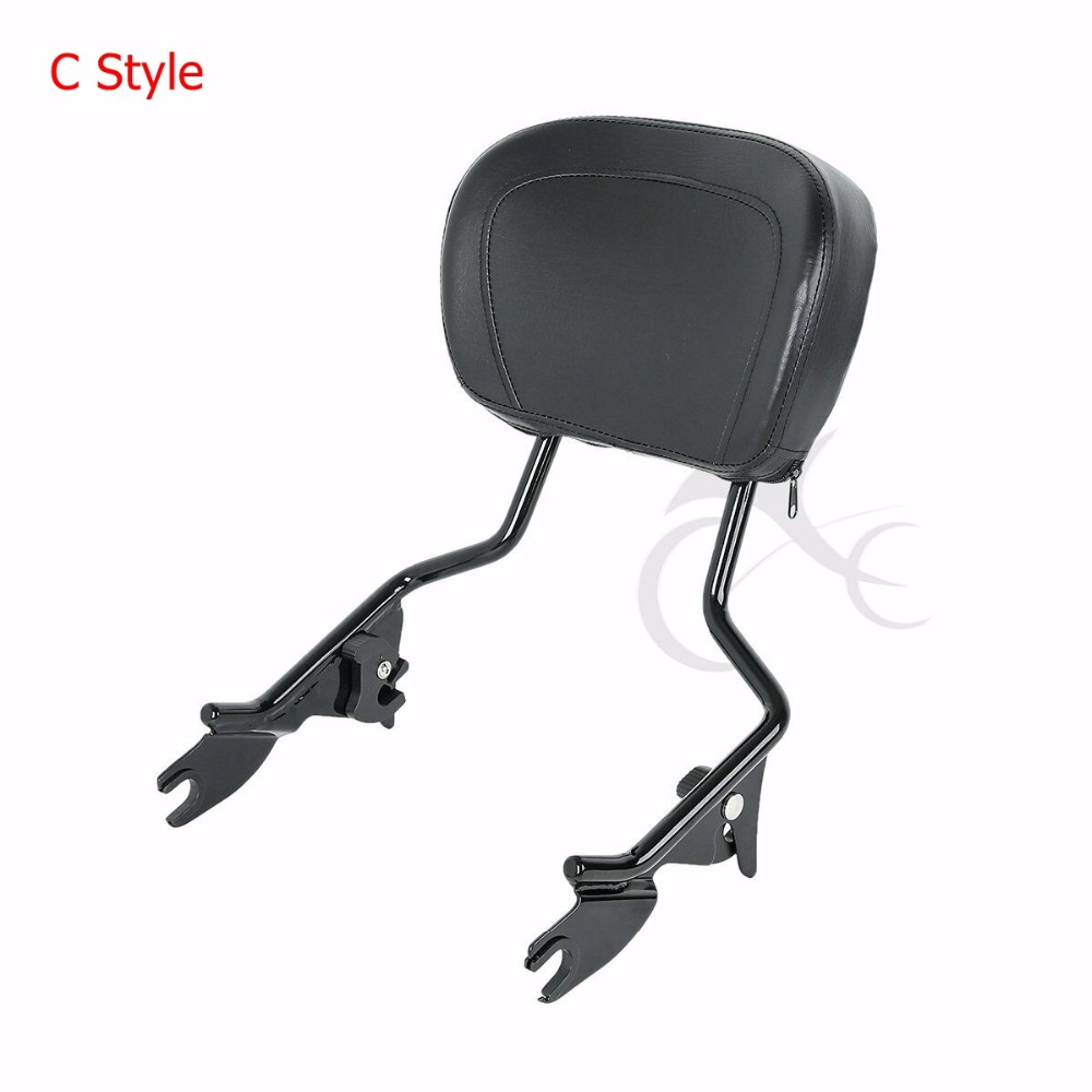 Motorcycle Detachable Backrest Sissy Bar Luggage Rack For Harley Road King Road Glide Street Glide CVO 2014 2019 2018 in Covers Ornamental Mouldings from Automobiles Motorcycles