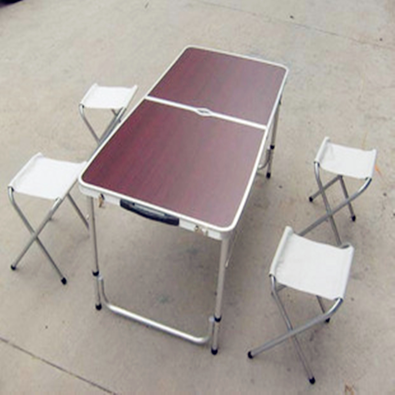 Buy ikayaa metal folding kitchen dining table chair set for Metal patio table and 4 chairs