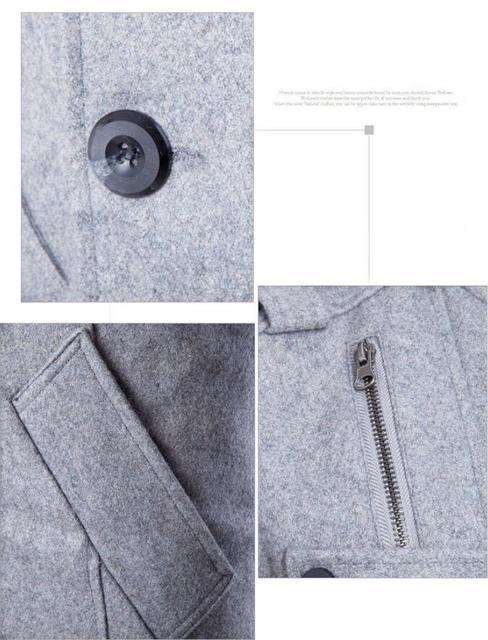 Long Woolen Slim Fit Overcoat - Double Breasted Winter Jacket 3