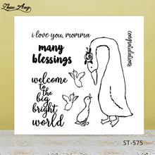 ZhuoAng Many Wishes Naughty Swan Clear Stamps For DIY Scrapbooking/Card Making/Album Decorative Silicone Stamp Crafts