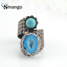 5Pieces,Women Fashion Jewelry, Rhinestone Rings,5 Colors ,can Mix