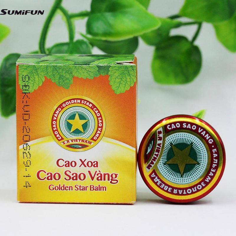 New Golden Star Balm Ointment For Headache Dizziness Insect Stings Heat 4g Essential Balm