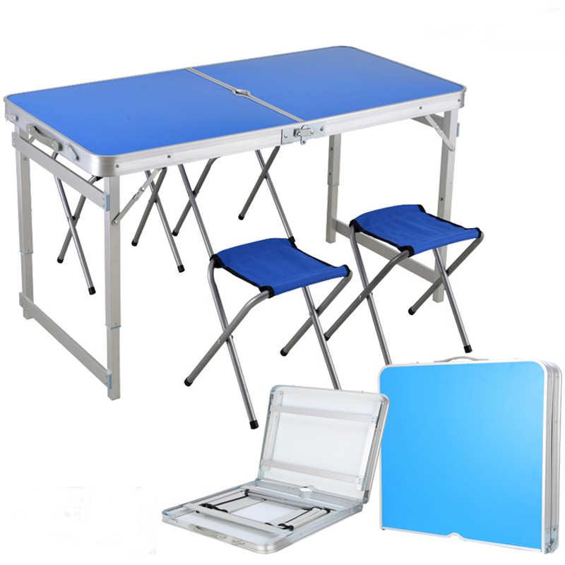 2018 açık katlanır masa sandalye kamp alüminyum alaşımlı piknik masa su geçirmez Ultra hafif için dayanıklı katlanır masa masa