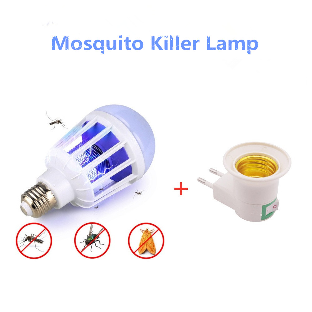 E27 LED Mosquito Killer Bulb Lamp Base And LED Bulb For Home Lighting Bug Zapper Trap Lamp Insect Anti Mosquito Repeller Light