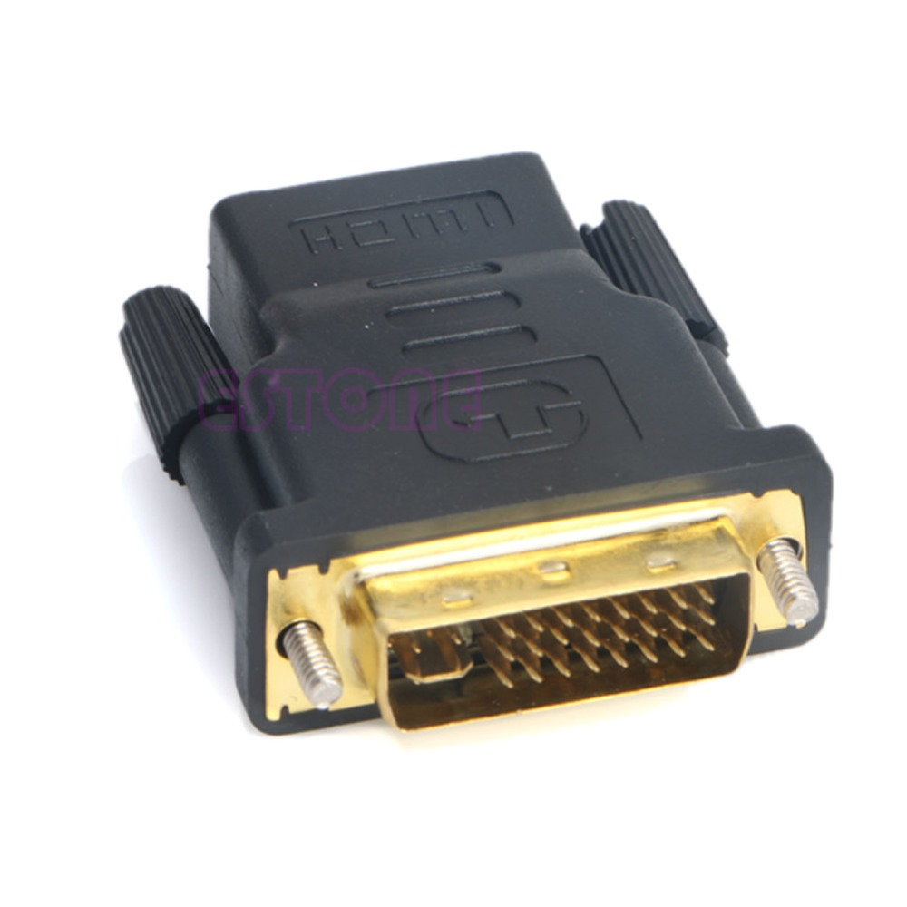 DVI-I Dual Link (24+5 Pin) Male To HDMI Standard Female Adapter For Monitor LCD new 19 pin dvi male to hdmi female converter adapter adaptor dual link connector for hdtv pc lcd wholesale