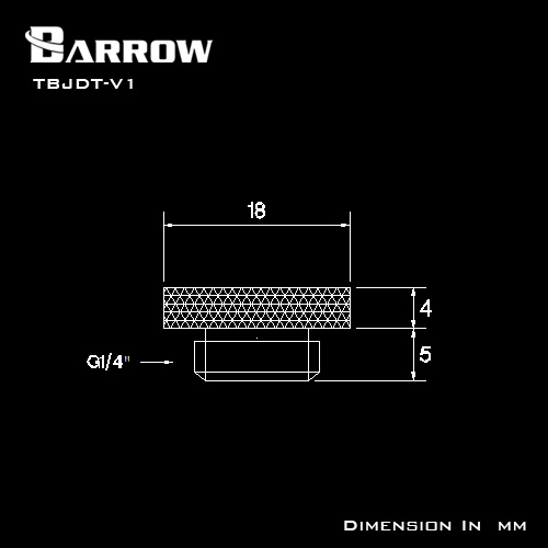 Купить с кэшбэком Barrow G1/4'' Plug Brass Sealing Lock Dragon Logo Special Edition Cooler Plug Computer Water Cooling Accessories Fitting