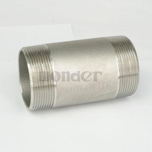 Rohrverbindungsstücke Zuversichtlich 2 npt 304 Edelstahl 100mm Länge Barrel Nipple Geschmiedete Rohrfitting 2000 Psi Wasser Gas Öl Schnelle Farbe