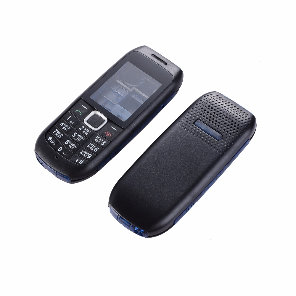 For Nokia 1616 Phone Housing Cover Front+middle+back Cover+English And Russian Keypad+Tools