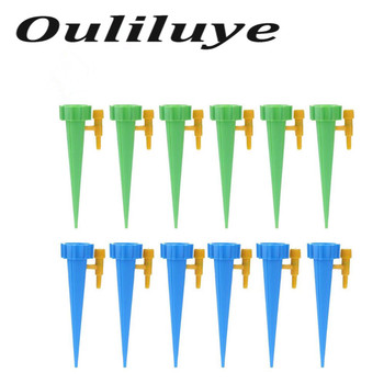 Auto Drip Irrigation Watering System Automatic Watering Spike for Flower Plants Indoor Household Waterers Bottle Drip Irrigation 12 18pcs automatic irrigation watering spike indoor household auto drip irrigation watering system set garden waterer for plants