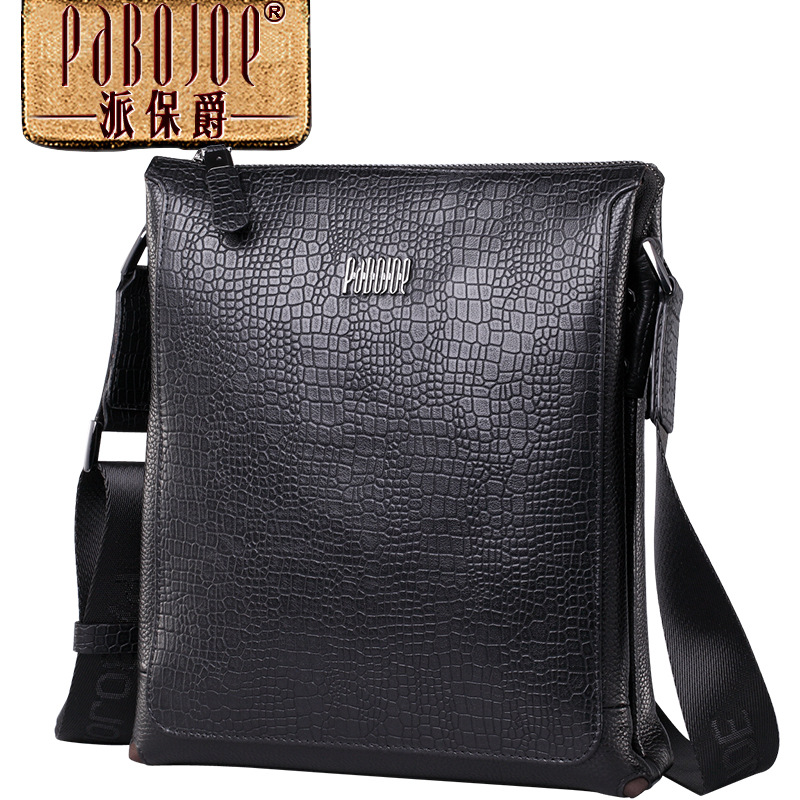 Pabojoe brand 100% Genuine Leather fashion Men Messenger Bag Shoulder Bag cow leather bolsa feminina free shipping