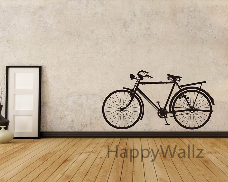 Beau Bike Wall Sticker Modern Bicycle Wall Decal DIY Decorating Modern Office  Vinyl Wall Art Bicycle Wallpaper Hot Sale Free Shipping In Wall Stickers  From Home ...