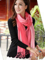 new arrival two Gradient changes color design cashmere scarf with tassels women's scarf