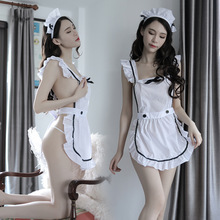 Sexy Lingerie Erotic Apron Maid Sweet Costume Babydoll Kawaii Women Lace Outfit Uniform Sex