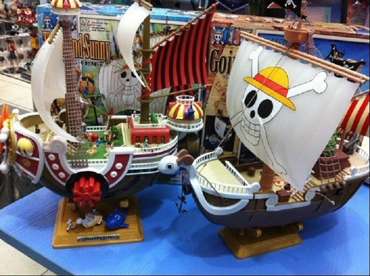 ФОТО Free Shipping 28cm Merry Thousand Sunny Pirate One Piece Action Figures Anime PVC brinquedos Collection Figures toys Anime Dolls