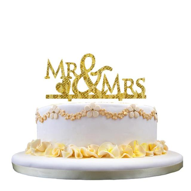New Wedding Cake Topper Insert Card Love Groom And Bride Acrylic ...