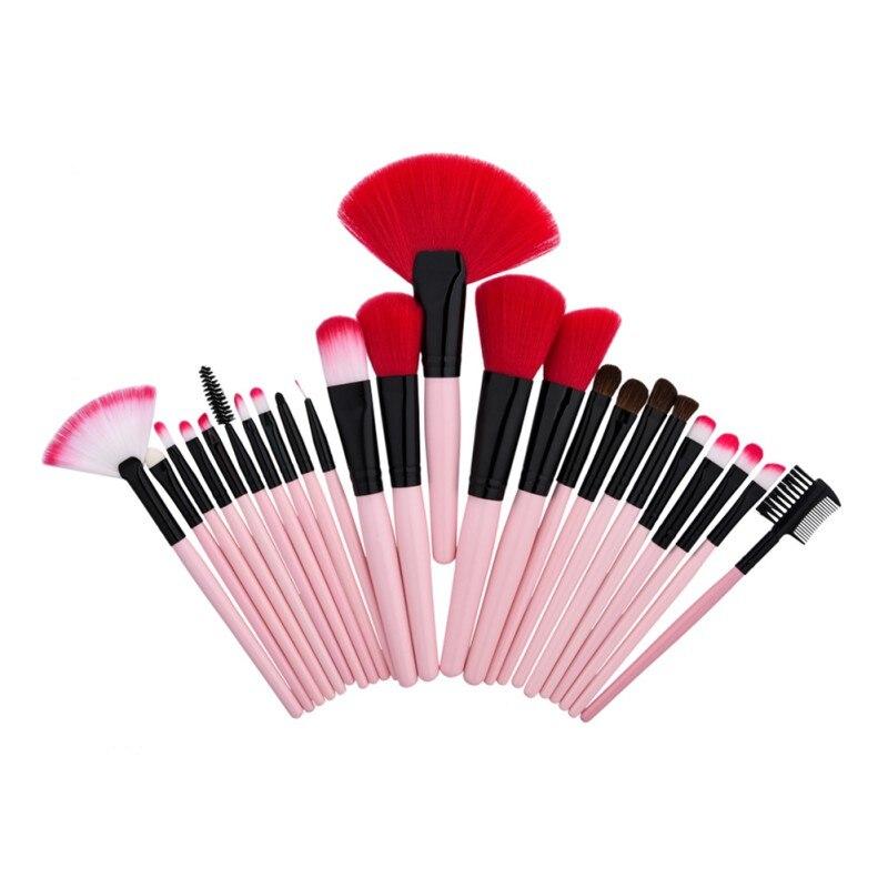professional vander pink stylish 32pcs set cosmetics eyebrow shadow powder makeup brush set tools gift kit 24/32 Pcs Professional Makeup Tools Makeup Brushes Soft Cosmetics Eyebrow Shadow Powder Pinceaux Brush Set Fashion