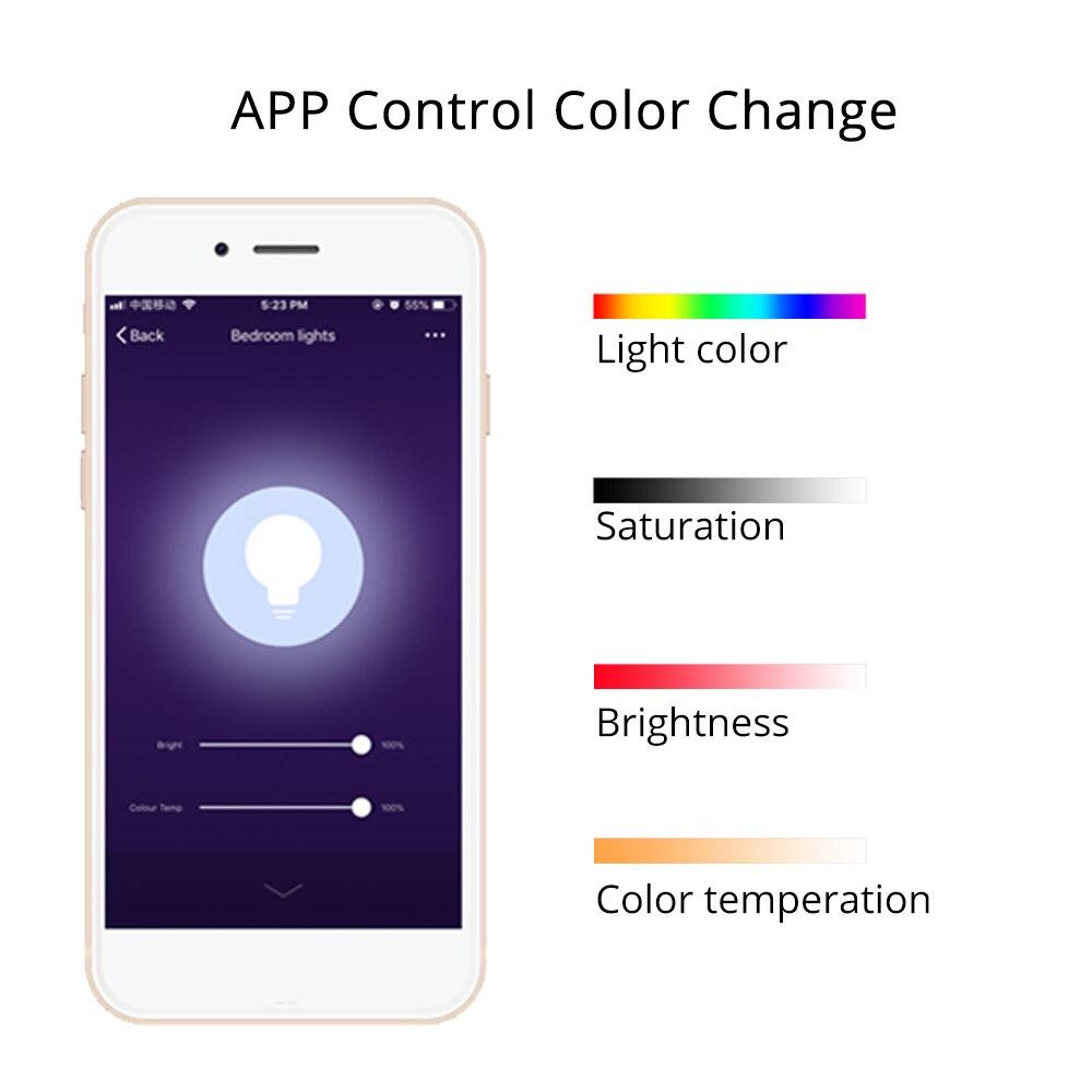 € 32 54 40% de DESCUENTO 2018 luz LED Alexa Google hogar niños dormitorio  luces lámpara Luna APP Control regalo de Navidad en Inteligente de Control