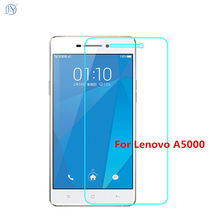 9H Tempered glass for Lenovo A5000 screen protectors protective transparency film front case cover + clean kits For a5000