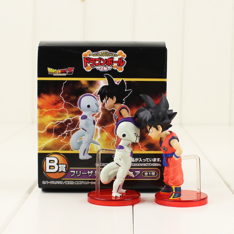 8cm 2pcs/lot Dragon Ball Z Son Goku and Frieza battle action figure model toy Kakarotto FREEZER childhood fighting figure toy