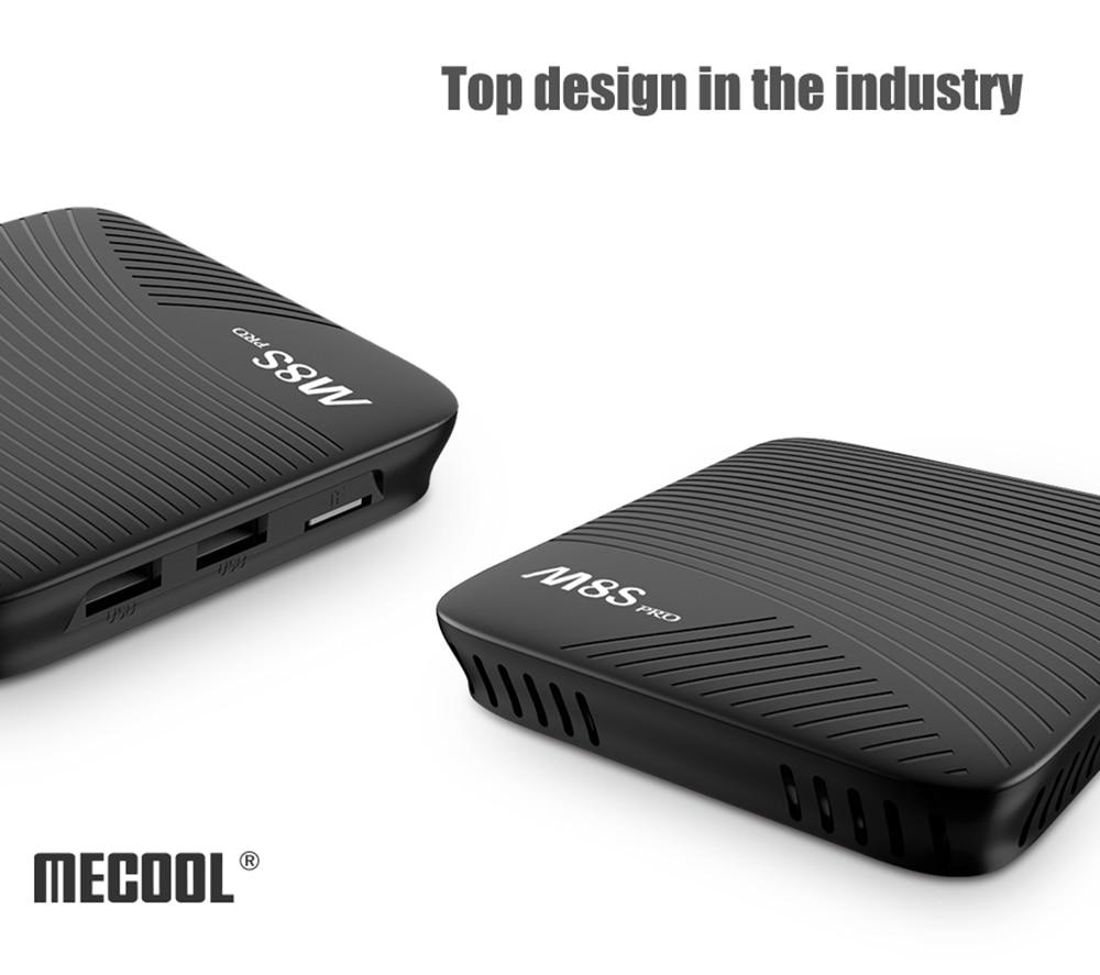 MECOOL M8S PRO Android 7.1 Smart TV Box Amlogic S912 Octa Core 3G 16G Set Top Box Bluetooth 4.1 2.4GHz / 5GHz WiFi Media Player mecool m8s pro android 7 1 smart tv box bt 4 1 ddr4 amlogic s912 2 0ghz octa core arm wifi 4k full hd 3g ram 32g rom set top box