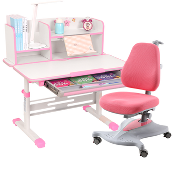 Children Set of Tables and Chairs Household Study Writing Desk Lifted Combination Adjustable Corrective Sitting Posture Chair children s study table and chair set primary school posture home simple student writing desk