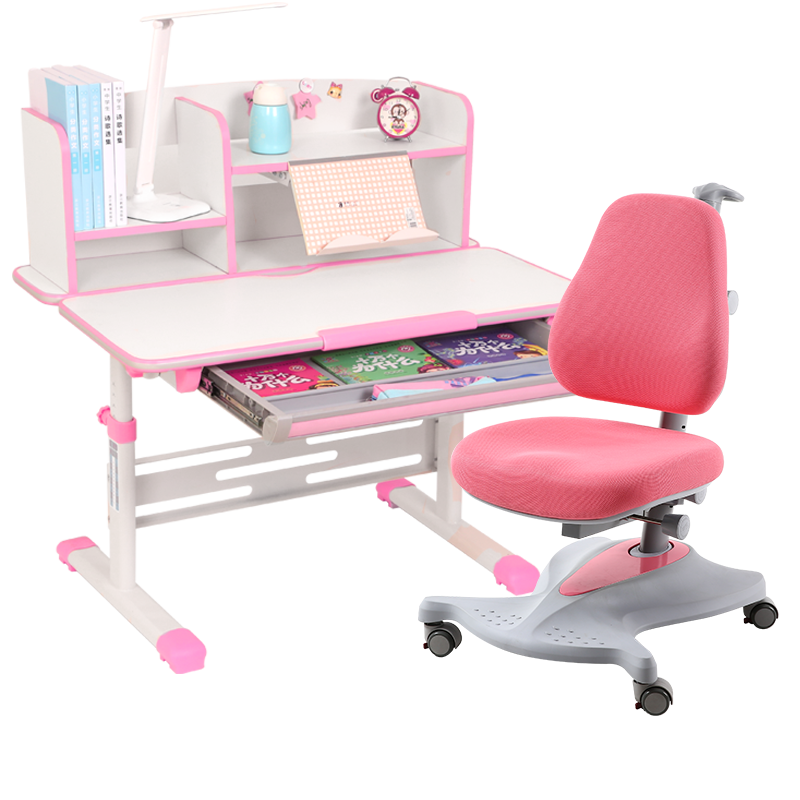 Children Set of Tables and Chairs Household Study Writing Desk Lifted Combination Adjustable Corrective Sitting Posture Chair