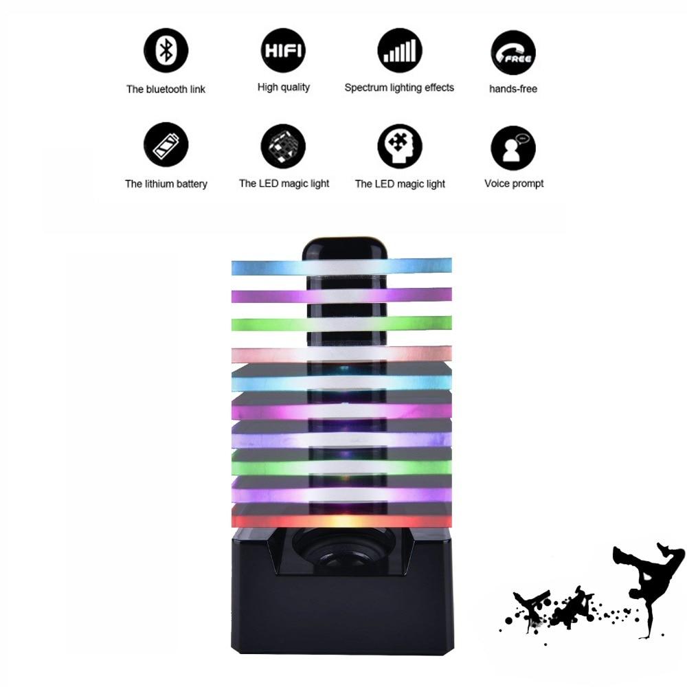 HIFI Stéréo Haut-Parleur Coloré Lumières LED Sans Fil Bluetooth Audio Mic AUX USB Mains Libres Haut-parleurs pour La Maison et Partie et en plein air
