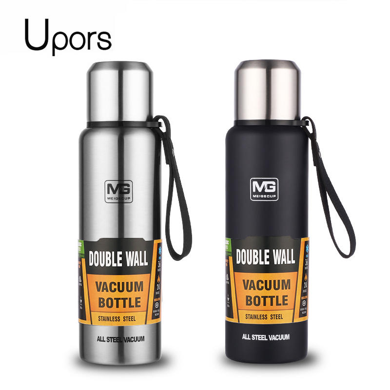Vacuum Flask Thermo-Bottle Insulated Tumbler Stainless-Steel UPORS 1000/1500ml with Portable