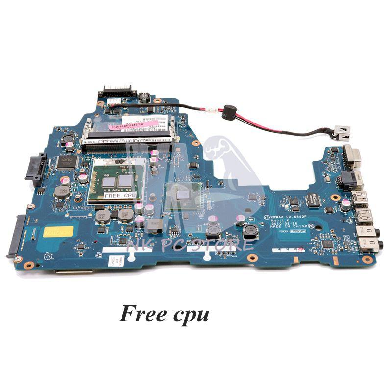 NOKOTION K000111440 Main Board For Toshiba C660 C660-1F1 Laptop Motherboard HM55 DDR3 PWWAA LA-6842P Free Cpu