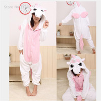 Pink Unicorn Cartoon Animal Onesies Pajamas Costume Cosplay Pyjamas Adult Onesies Party Dress Halloween Pijamas
