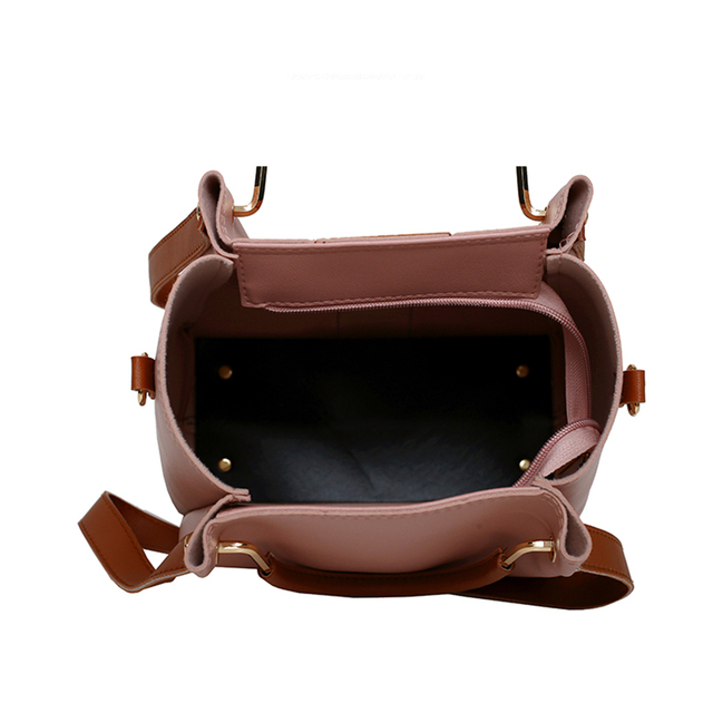 Women Messenger Bags Ladies Handbag New Brand 4 set Shoulder Bag Soft High Quality PU Casual Bag Female Fashion Wristlets Bag 4