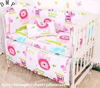 ¡Promoción! Juego de ropa de cama de bebé de 6 piezas incluye (parachoques + hoja + funda de almohada)