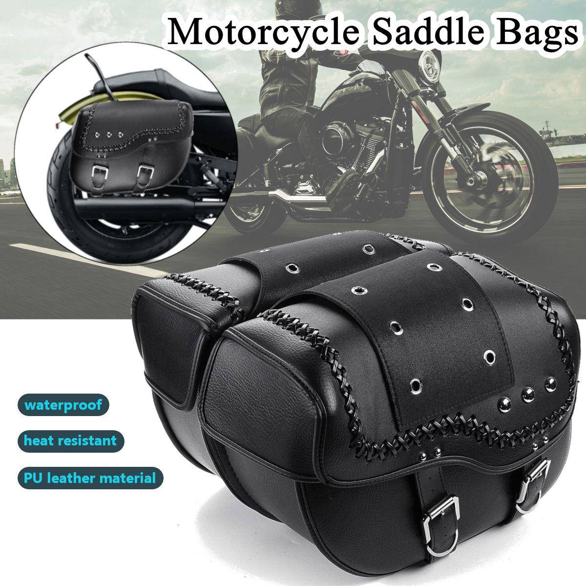 2 шт. универсальный из искусственной кожи подсидельная мотоциклетная сумка для Harley Sportster XL883 XL1200 для Honda Для Suzuki для Kawasaki для Yamaha