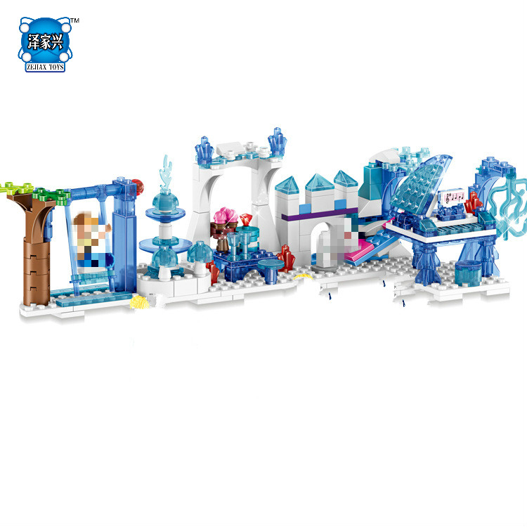 Hot Fairy Tale Movie Snow Queen Elsa and Anna Princess Castle 4in1 Scene Lepins Building Block Olaf Prince Figures Bricks Toys купальники