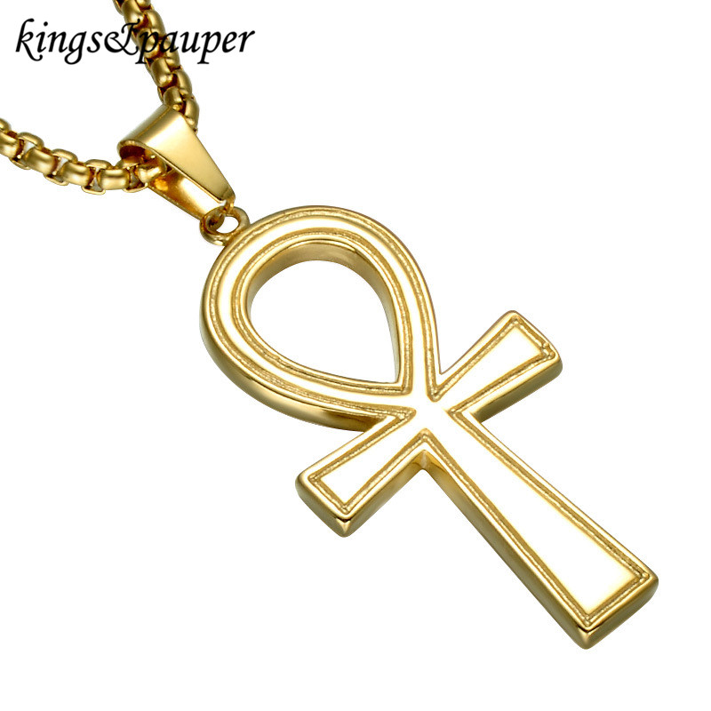 Stainless Steel Key Charms Chain Men Jewelry Symbol Of Eternal Life