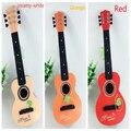 Sale1pcs Hot Plástico Guitarra instrumentos musicais infantis do desenvolvimento do bebê brinquedos de música bebê Preschool children instrumentos musicais