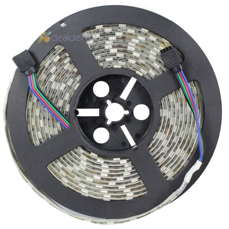 100m 20pcs DC12V 5M Lot 5050 SMD 300 Leds RGB Color Epoxy Resin IP65 Waterproof Flexible
