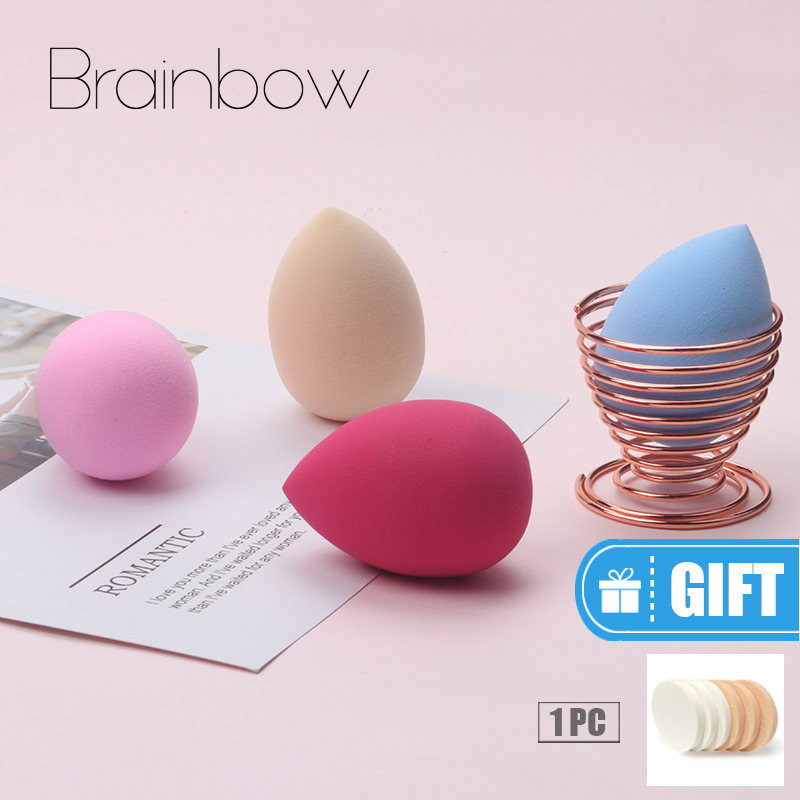 Brainbow 1pc Soft Make Up Beauty Sponge untuk Wet Wet be Bigger Foundation Puff Kosmetik Powder Cream Make Up Wajah Hidung Eye
