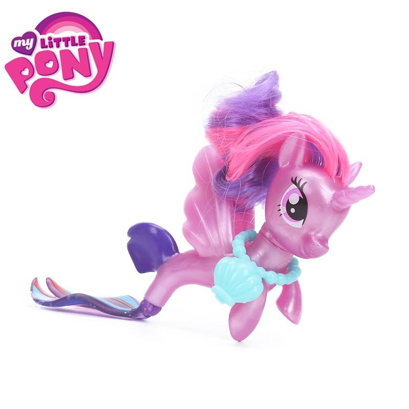 New Movie My Little Pony Fluttershy Rarity Pinkie Pie Seapony PVC Action Figures Shiny Pony Colletion Model Dolls Gift Toy
