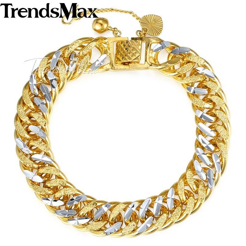Gold Link Bracelet Womens: Trendsmax Men's Bracelet For Women Gold Filled Bracelet