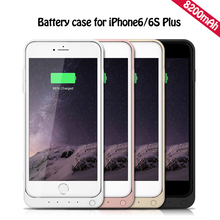 8200mAh External Backup Battery Cover Pack Charger Back Case for iPhone 6S Plus 5.5″ Rechargeable Power Bank MobilePhone Cell
