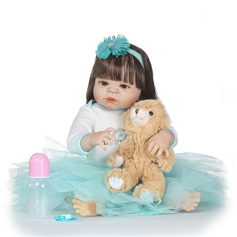 22 New arrival Victoria rooted Long brown hair Handmad adora Lifelike Baby full silicone Bonecas Bebe Reborn doll for kid Gift 22 New arrival Victoria rooted Long brown hair Handmad adora Lifelike Baby full silicone Bonecas Bebe Reborn doll for kid Gift