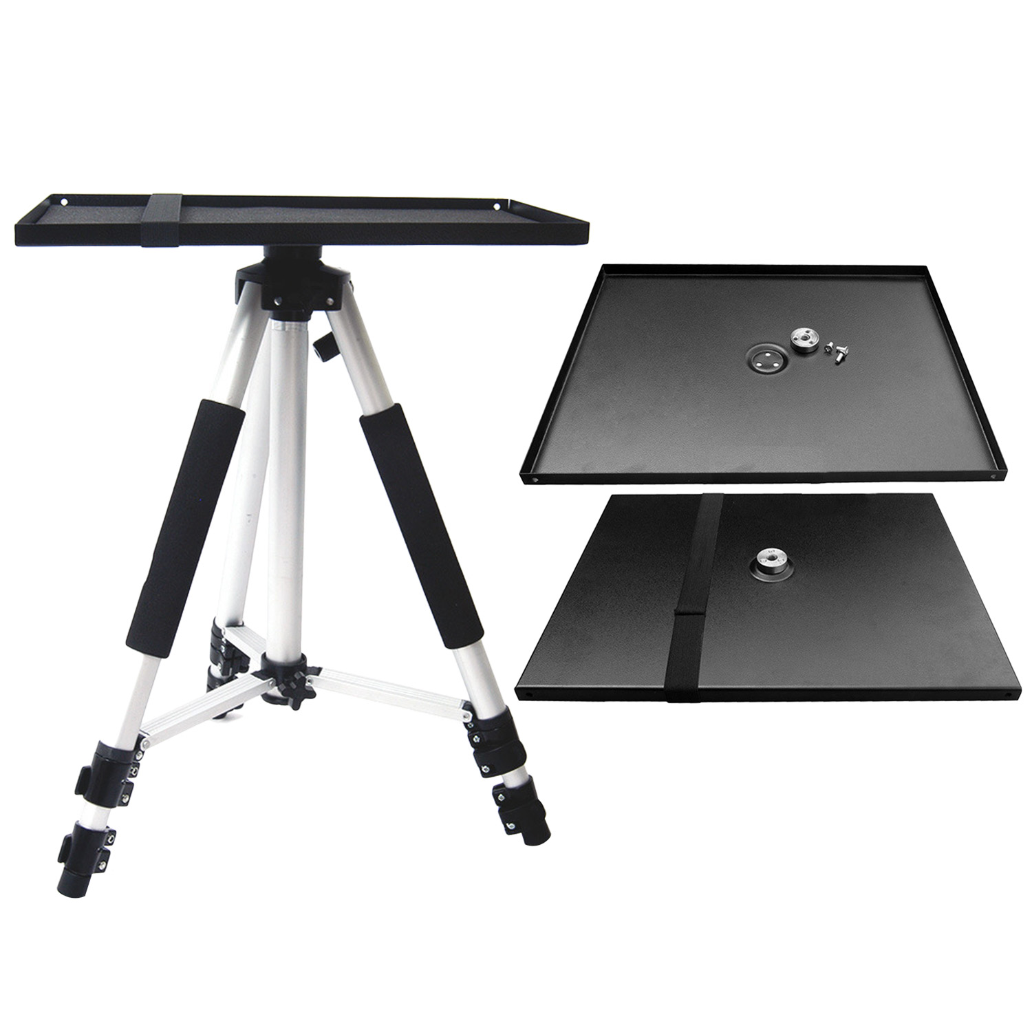 Besegad 34x24cm Universal Metal Tray Stand Platen Platform Holder for 3/8inch Tripod Projectors Monitors Laptops