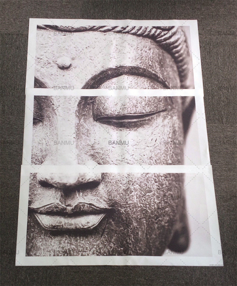 HTB1OutPXlUSMeJjy1zjq6A0dXXaf Canvas painting Wall Art pictures Gray 3 Panel Modern Large Oil Style poster Buddha Wall Print Home Decor for Living Room
