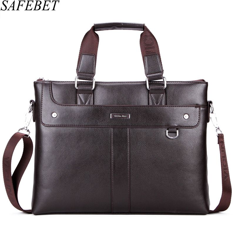SAFEBET Brand Man Fashion Briefcase High Quality Business Shoulder Bag Casual Travel Handbag Luxury Laptop Bag  Messenger bag safebet brand crocodile pattern fashion men shoulder bags high quality pu leather casual messenger bag business men s travel bag