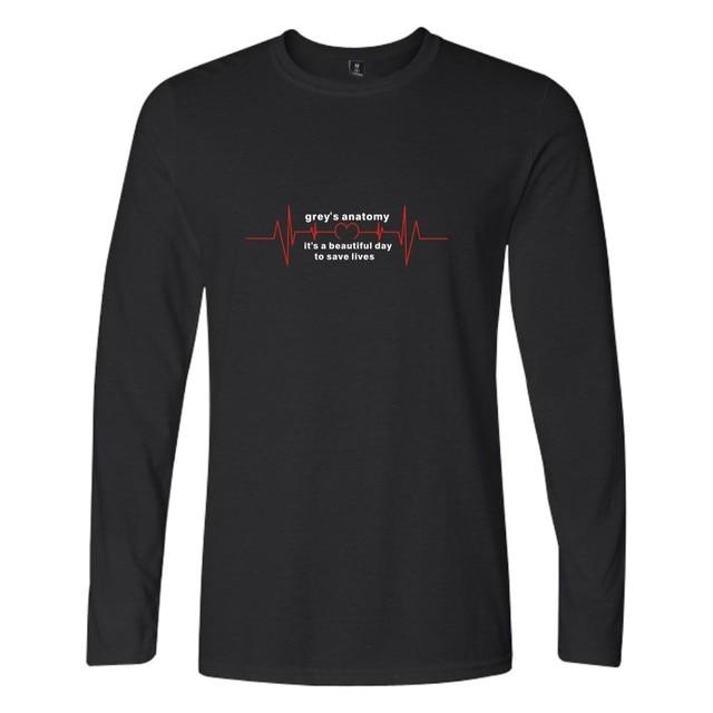 506362c5ab5 Grey anatomía T camisa Unisex camisetas de cuello redondo estampado gráfico  camiseta mujeres Tumblr grises anatomía