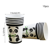 10pcs Panda Paper towel Party Decorations Supplies easter wedding Paper cups decor baby shower for home Activity goods 10pcs emoji disposable tableware napkin paper towel happy birthday party decorations supplies easter baby shower activity goods