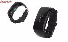 Smartch Новинка 2017 года X16 Спорт Фитнес трекер Bluetooth Smart Браслет сердечного ритма браслет дистанционного Камера для Android IOS фононов