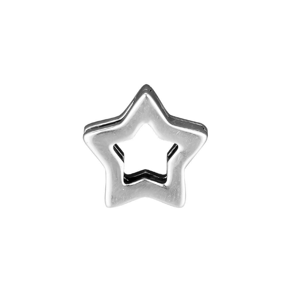 Pandulaso reflexiones elegante Clip Charm Fit pulseras de joyería de plata esterlina para mujer DIY perlas para la fabricación de la joyería