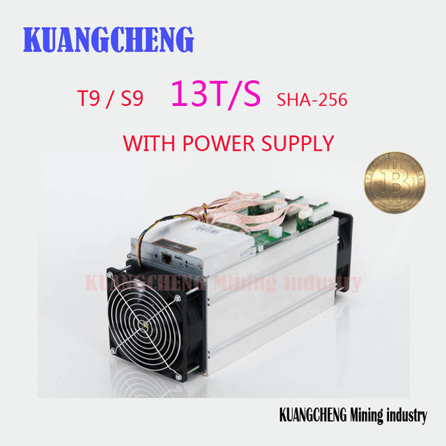 KUANGCHENG Mining industry sell AntMiner S9 + 1600W PSU 13Th/s two fan, Asic Miner, Bitcon 16nm BTC Mining SHA256 FREE SHIP